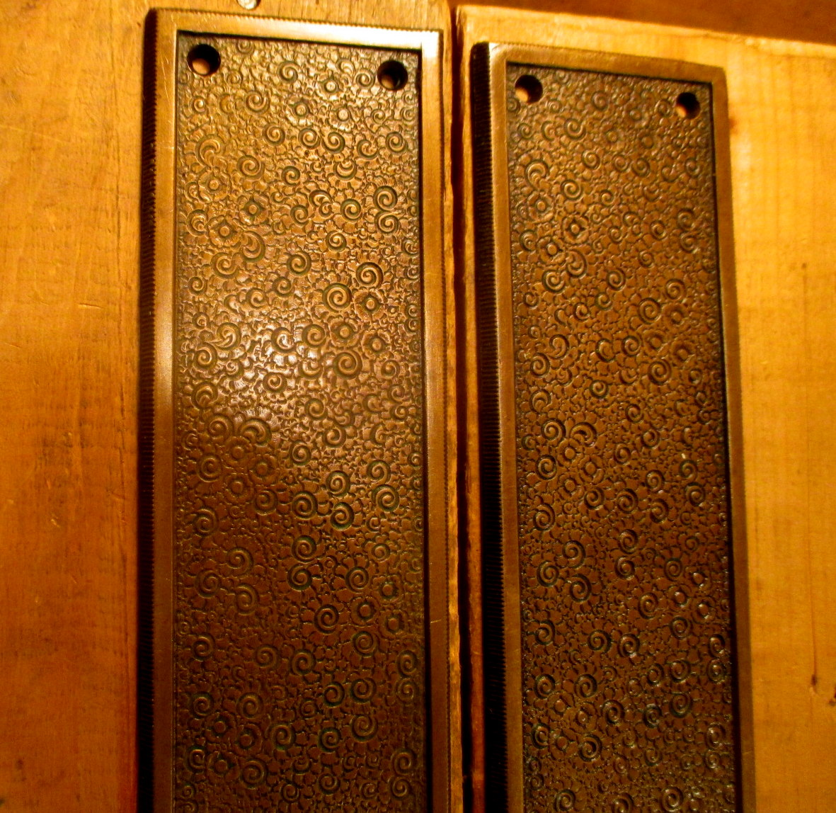 Bronze Door Push Plates R Amp E Damascene 096 Classic Home